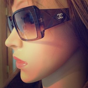 Chanel Rectangular Quilted Sunglasses Like New